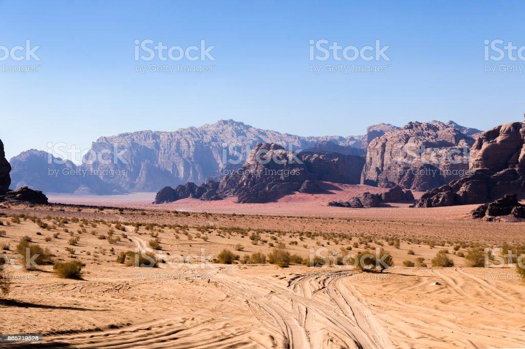 Wadi Rum sahne stok fotoğrafı