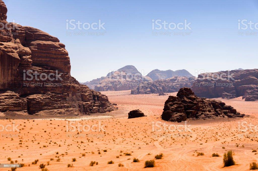 Wadi Rum sahne royalty-free stock photo