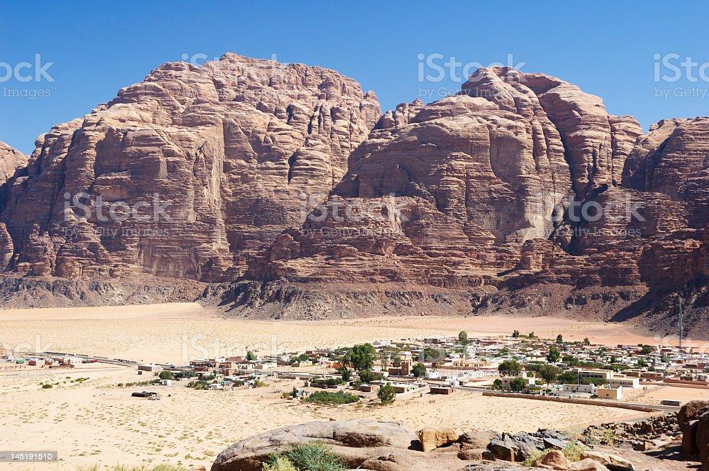 Wadi Rum village royalty-free stock photo