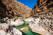 beautiful wadi shab, oman.