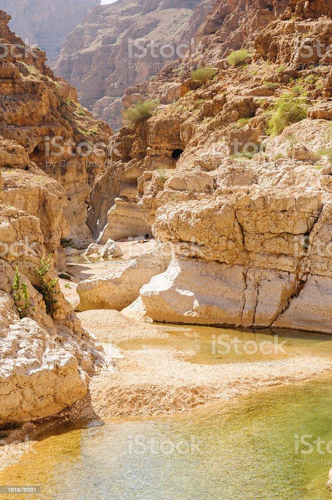 Wadi Shab stock photo