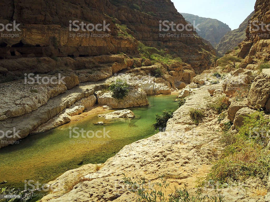 Wadi shams, Oman stock photo