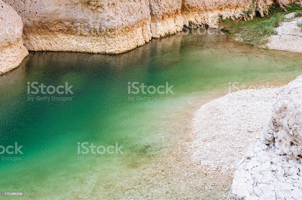 Wadi water stock photo