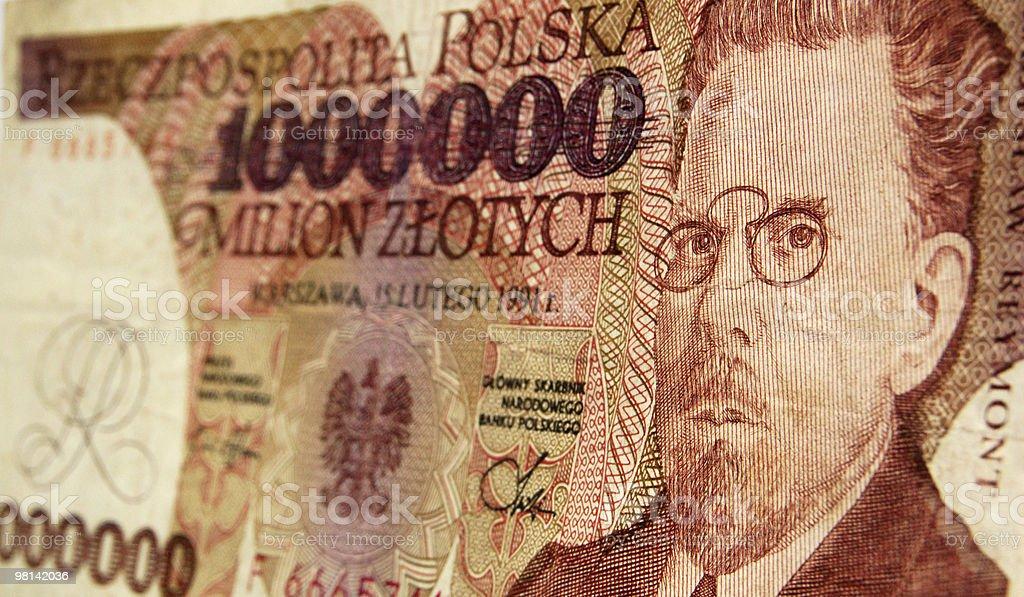Władysław Reymont Polish banknote stock photo