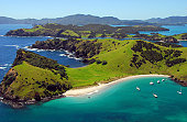 Aerial View of Waewaetorea Passage - Bay of Islands, Northland New Zealand