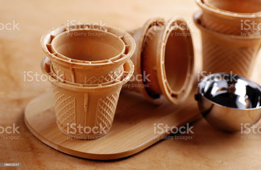 Wafer cups for Ice-Cream royalty-free stock photo