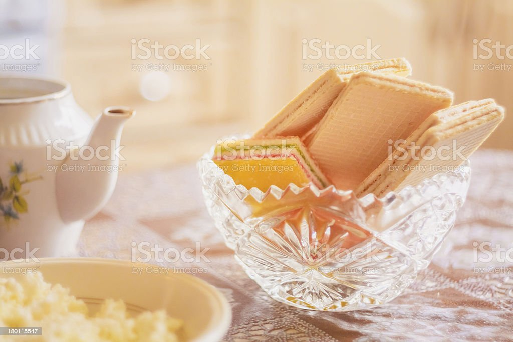Wafer On Table royalty-free stock photo