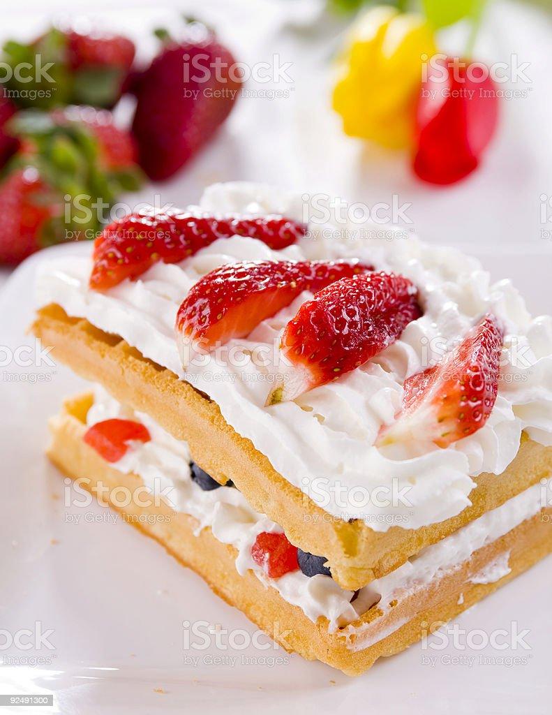 wafer strawberry royalty-free stock photo