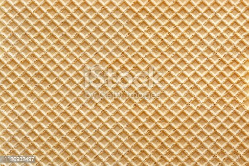 istock Wafer with vanilla background 1126932497