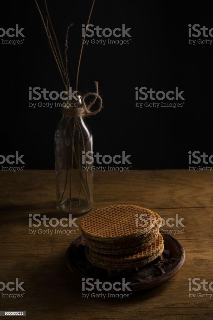 gaufrettes au chocolat à la cerise - Photo de Aliment libre de droits