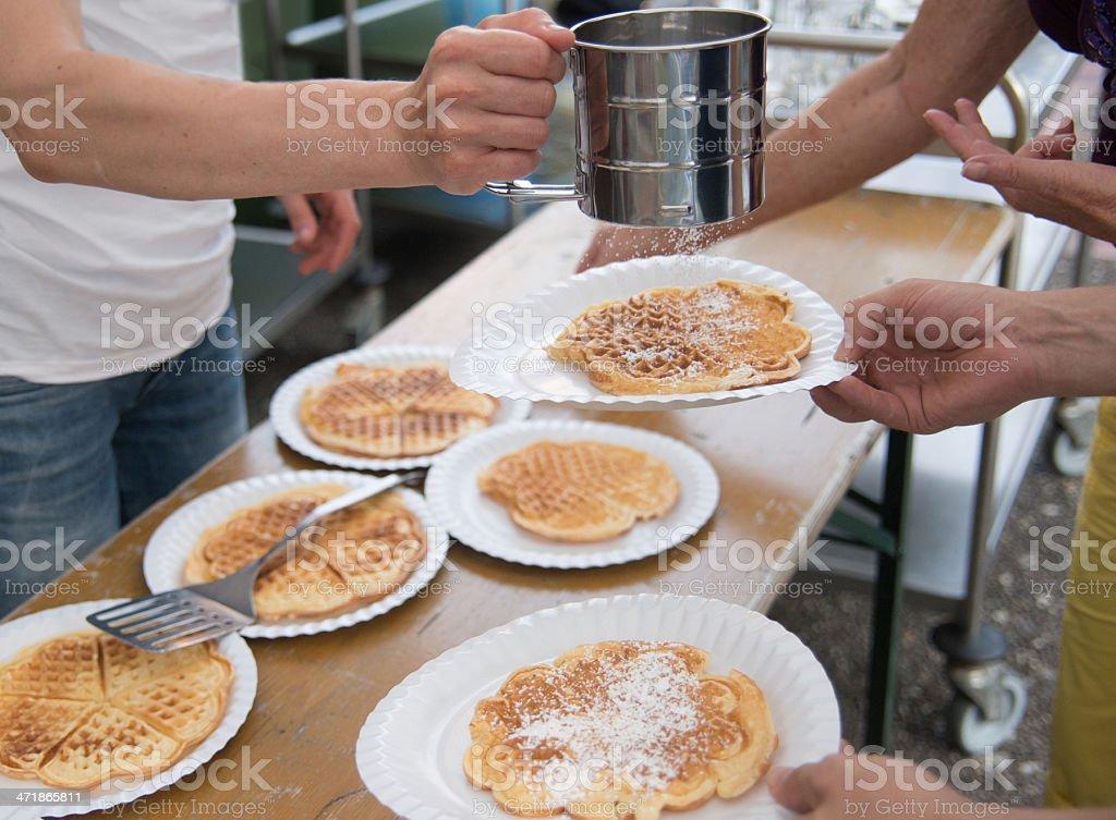 waffle buffet royalty-free stock photo