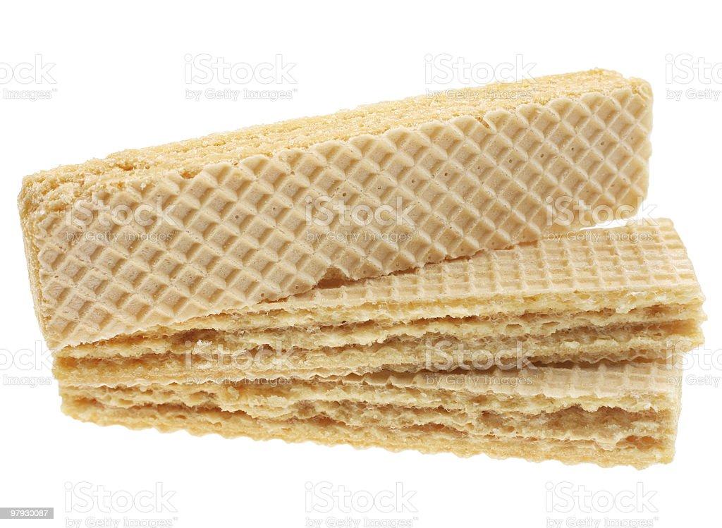 Waffle cake royalty-free stock photo