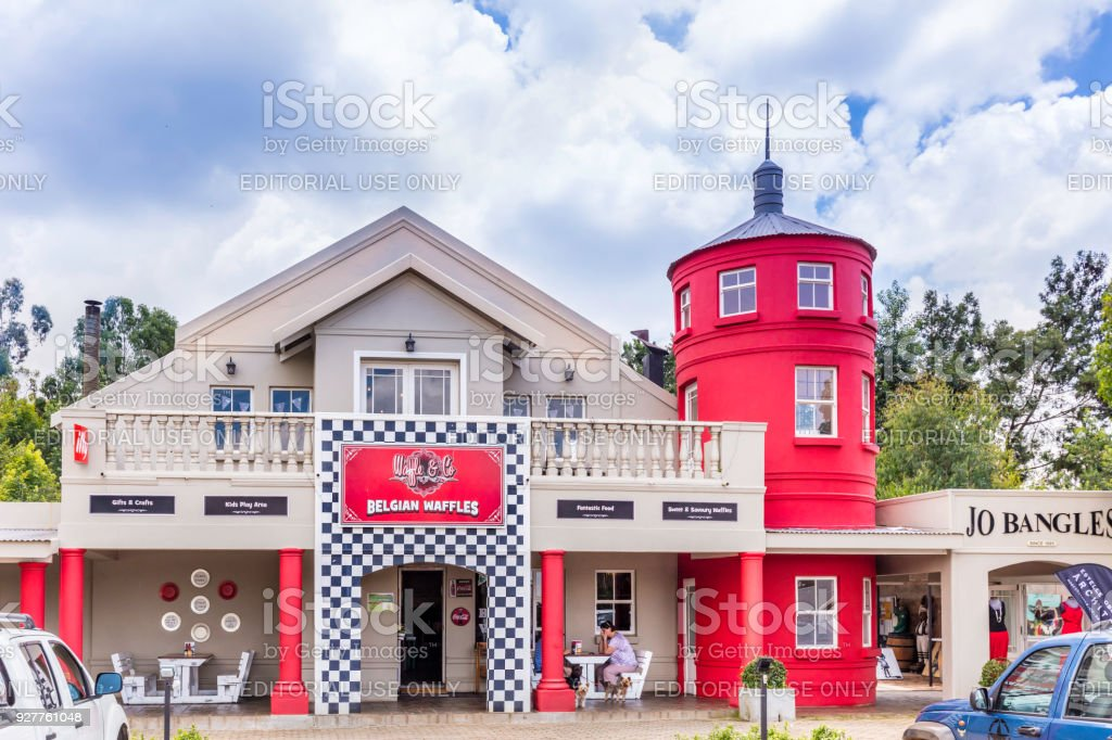Waffle Co Belgium Waffles In Dullstroom South Africa Stock Photo