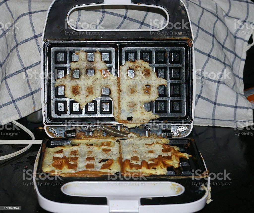 Waffle failure stock photo