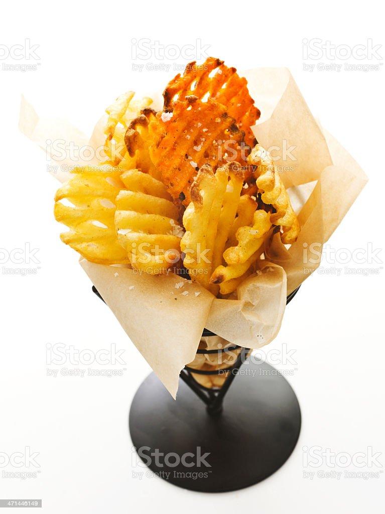 waffle fries royalty-free stock photo