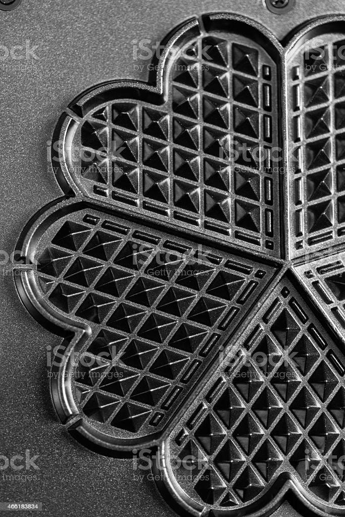 waffle iron background stock photo