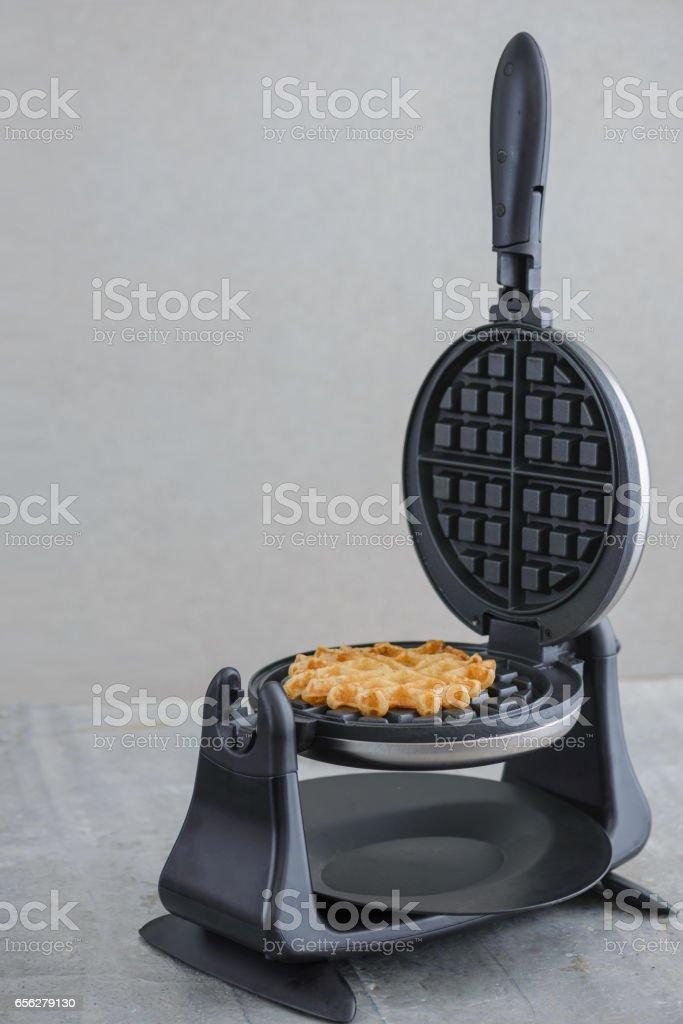 Waffle Iron with Waffle stock photo