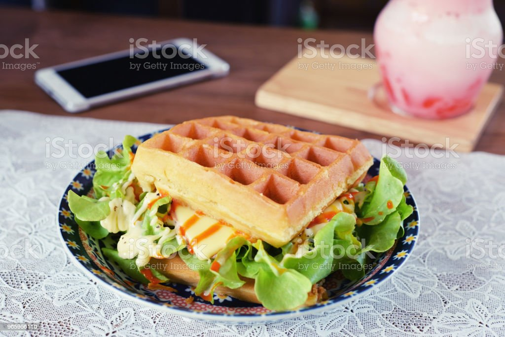 wafel - Royalty-free Aardbei Stockfoto