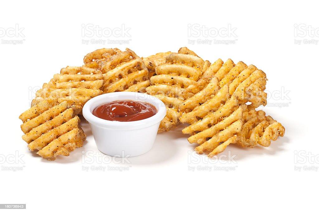 Waffel Potato frites – Foto