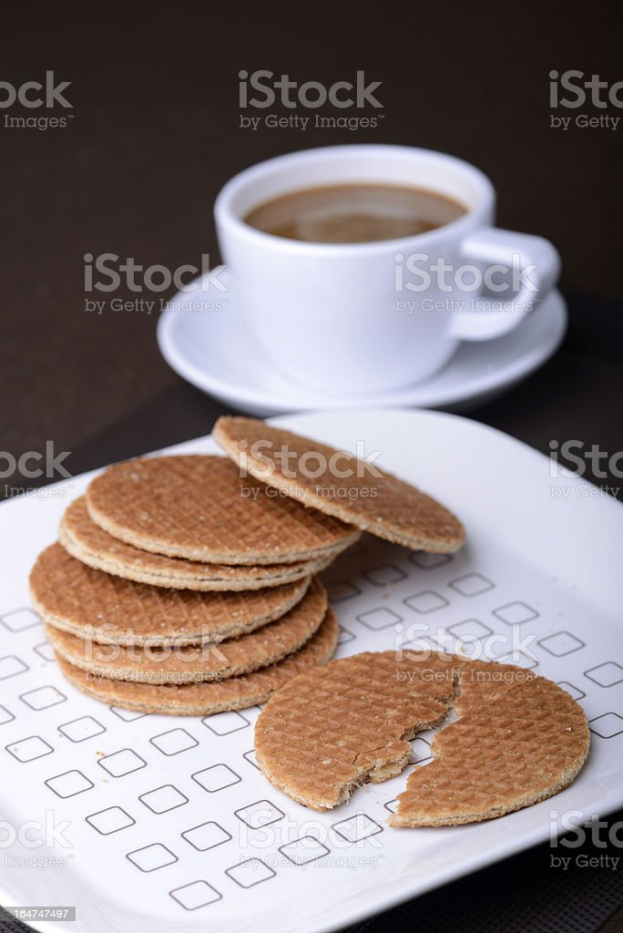 Waffle with Coffee royalty-free stock photo
