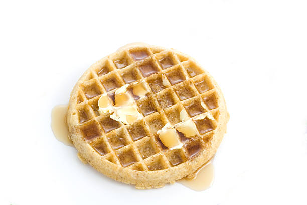 Waffle with Syrup stock photo