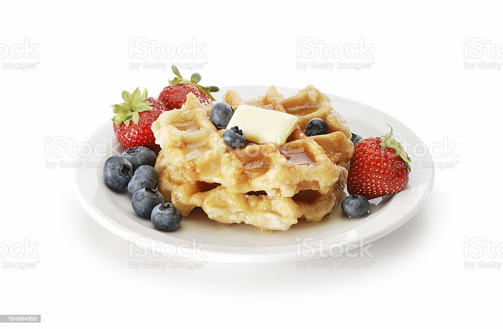 Waffles and berries royalty-free stock photo