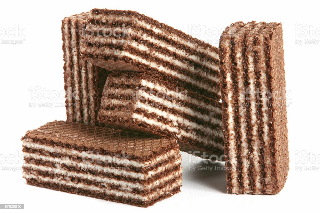 Waffles chocolate royalty-free stock photo