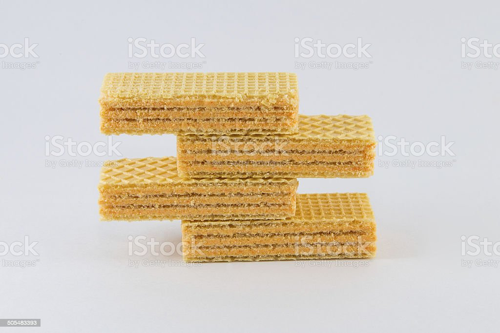 Waffles on a white background royalty-free stock photo
