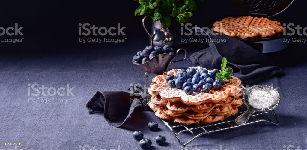 Gaufres aux bleuets - Photo