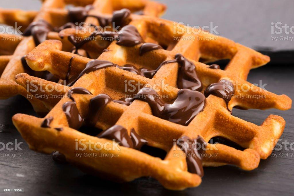 Des gaufres avec chocolat - Photo