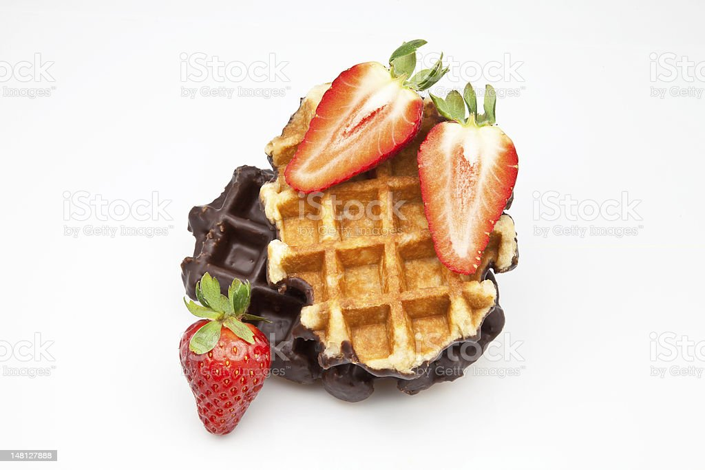 waffles with fruit royalty-free stock photo