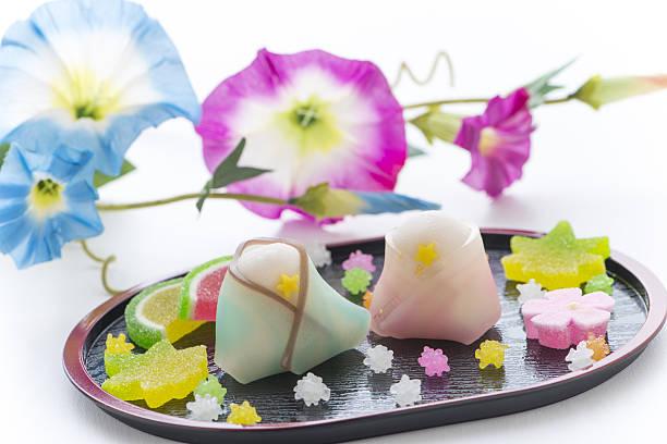 wagashi for tanabata festival - 七夕の写真 ストックフォトと画像