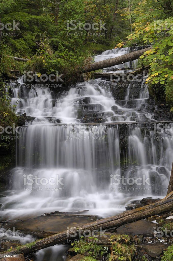 Wagner Falls, Michigan royalty-free stock photo