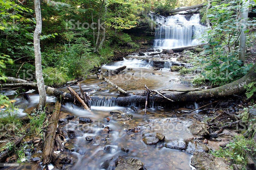 Wagner Falls royalty-free stock photo