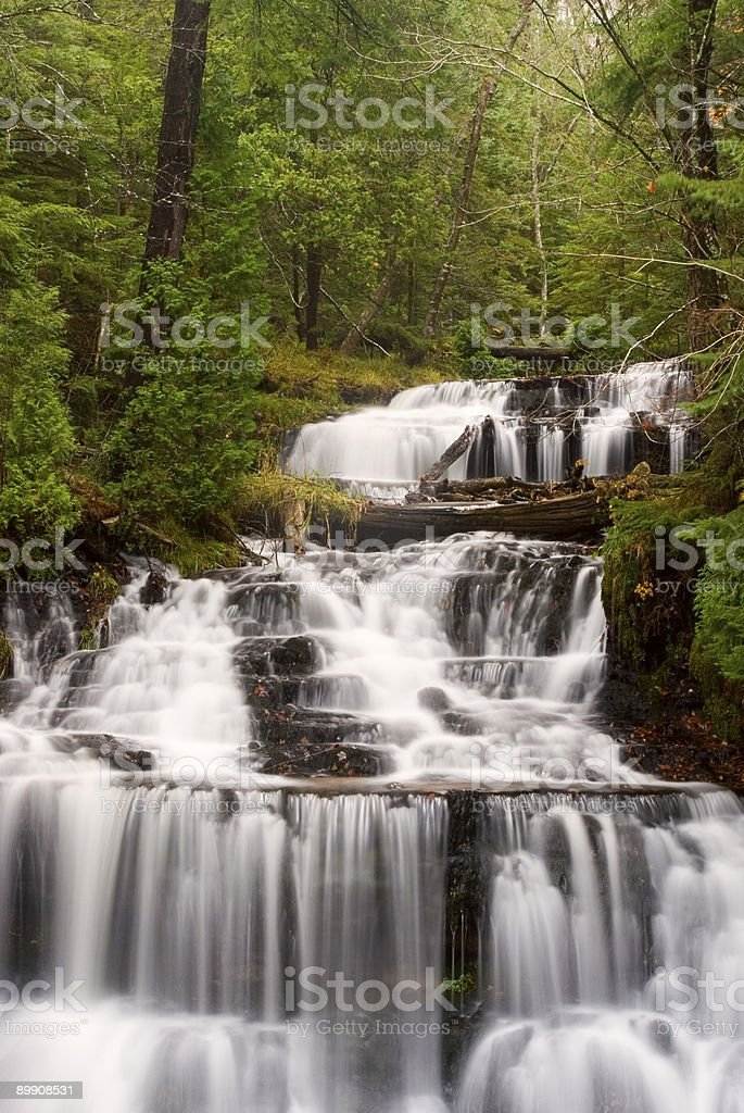 Wagner Falls Pictured Rocks National Lakeshore royalty-free stock photo