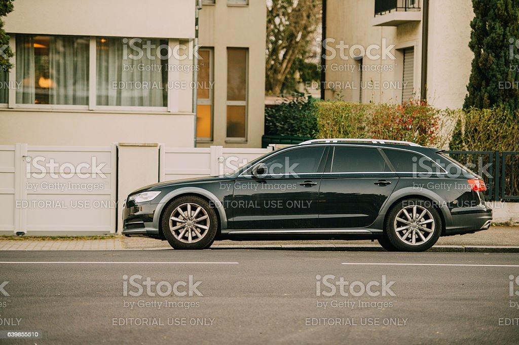 AUDI wagon car parked stock photo