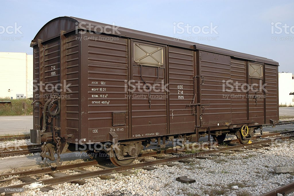 Wagon of Commercial Train stock photo
