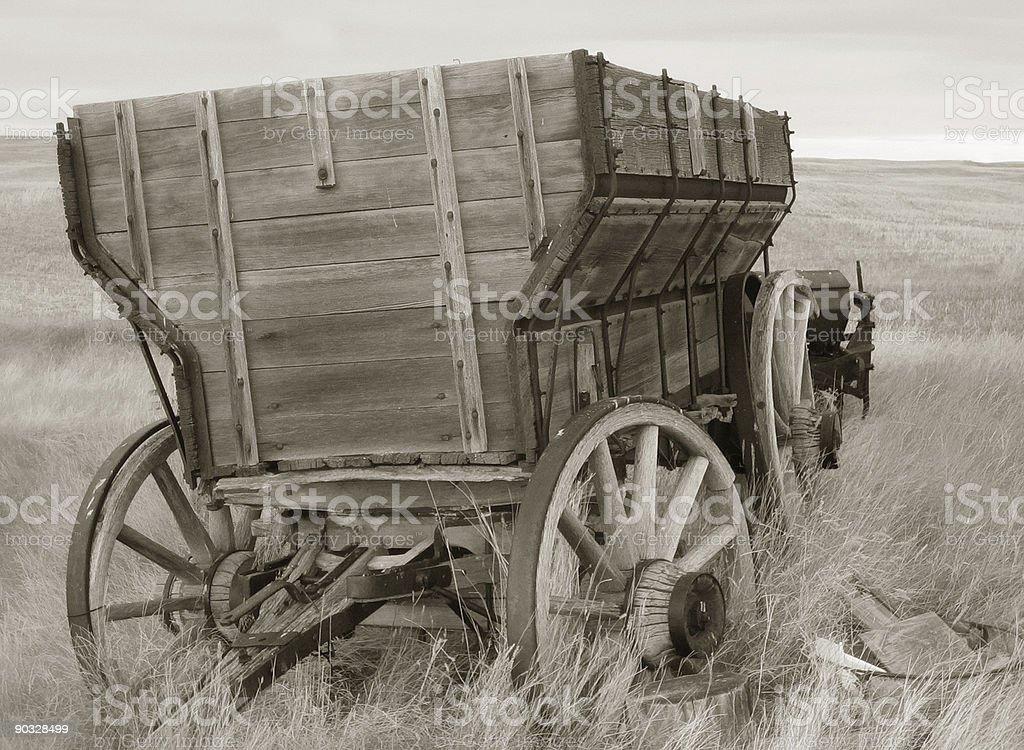 wagon sepia royalty-free stock photo