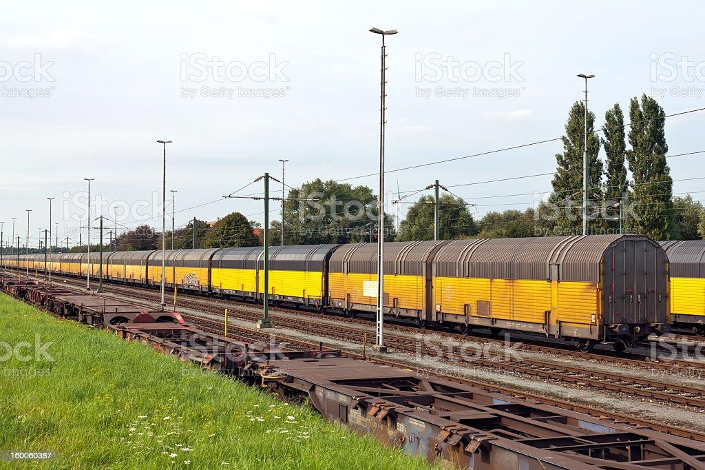 wagon train for cars royalty-free stock photo