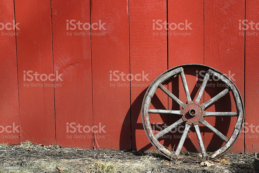 Wagon Wheel stock photo