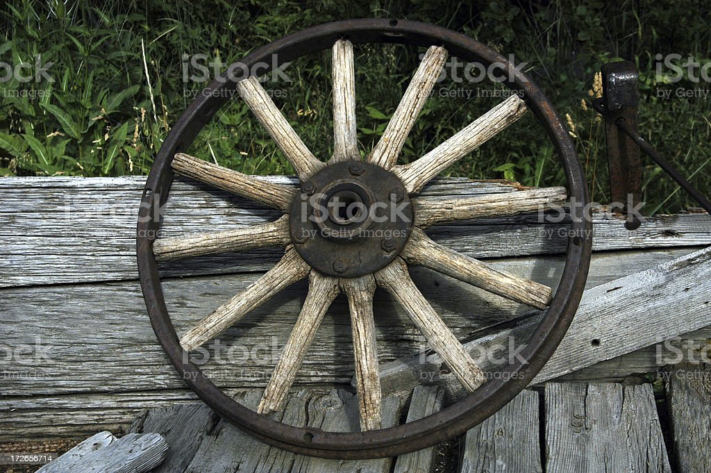 Wagon Wheel royalty-free stock photo