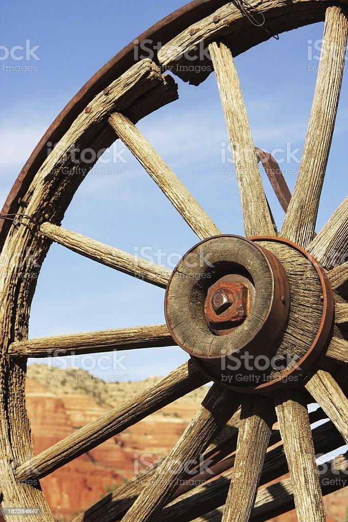 Wagon Wheel Spoke Hub royalty-free stock photo