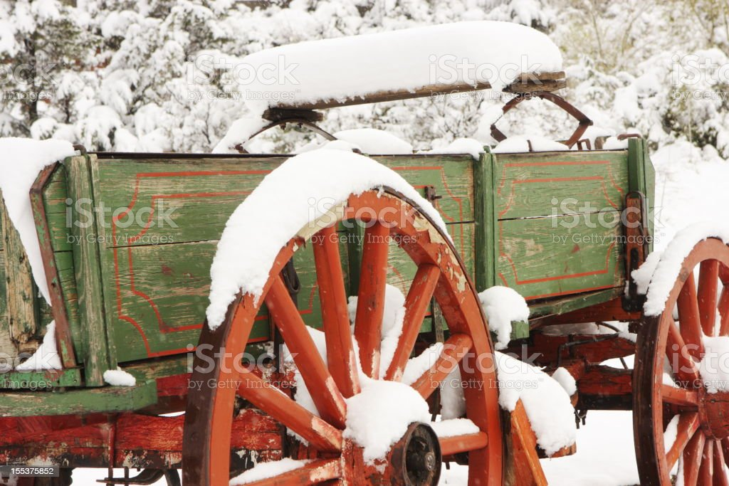 Wagon Wheel Stagecoach Carriage Cart royalty-free stock photo
