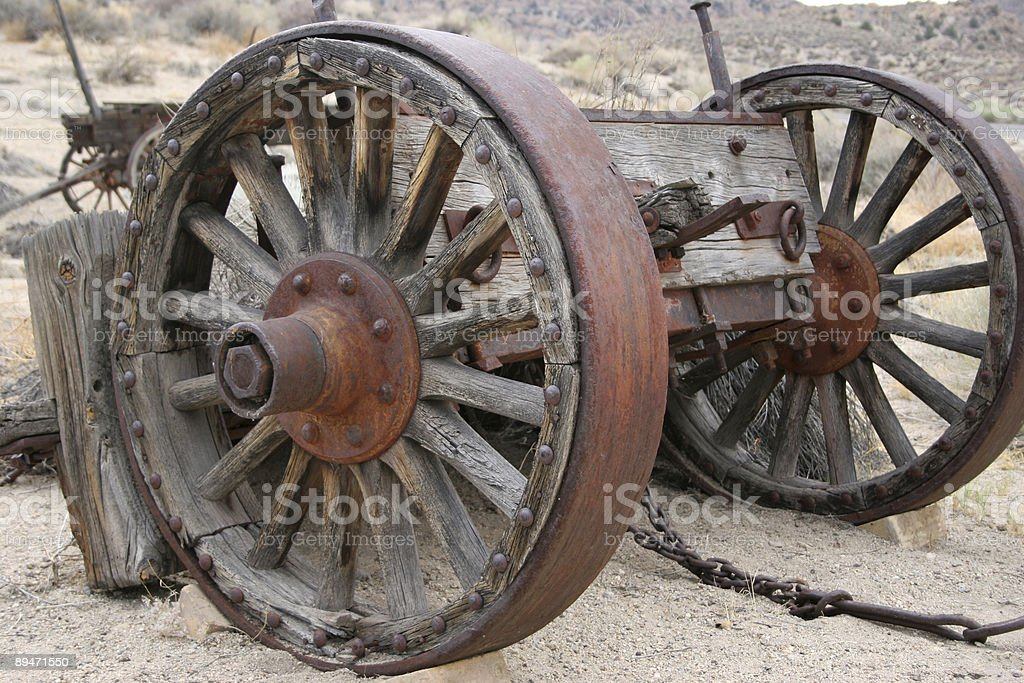 wagon wheels royalty-free stock photo