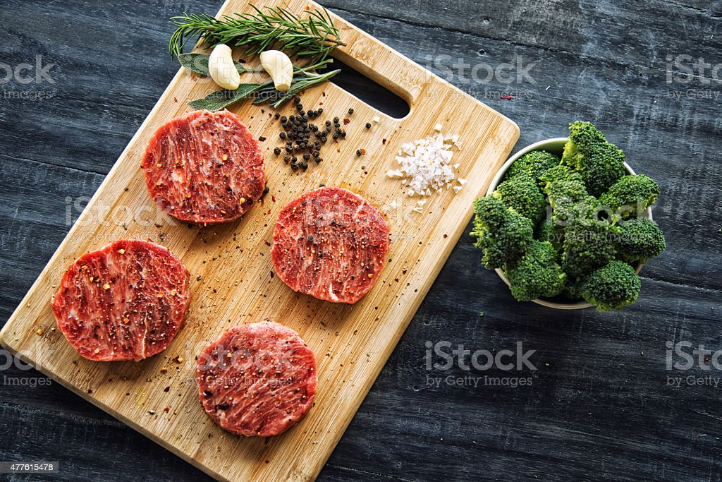 Wagyu beef steaks stock photo