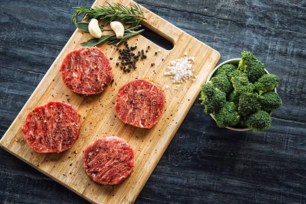 Wagyu beef steaks stock photo