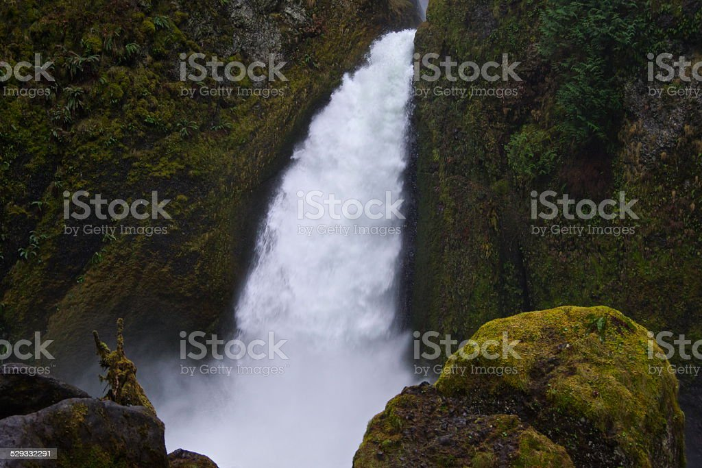 Wahclella Falls Force stock photo