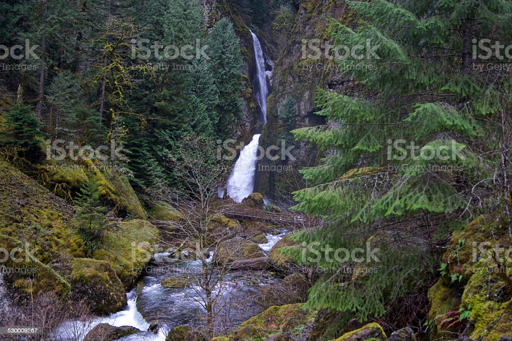Wahclella Falls stock photo