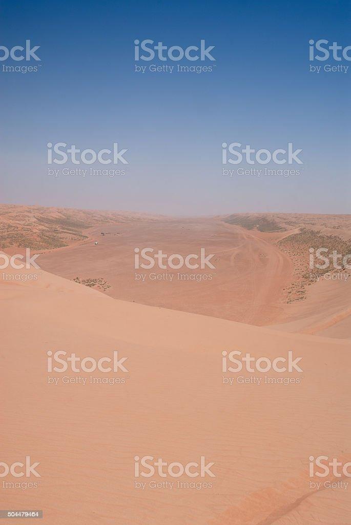 Wahiba Sand Dunes - Oman stock photo