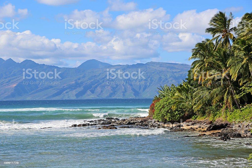 Wahikuli Beach Park stock photo